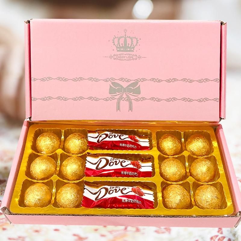 创意德芙巧克力礼盒装送女友女生浪漫棒棒糖果情人节生日礼物网红