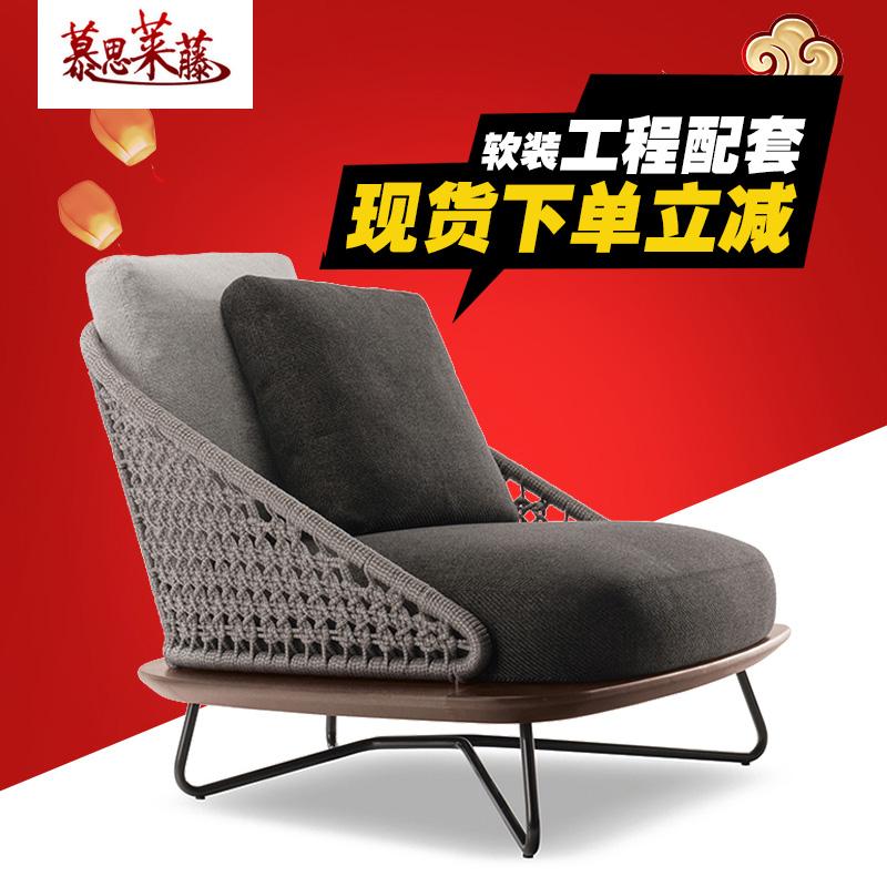 На открытом воздухе виноградная лоза диван дизайнер ротанг диван модель дом продавать этаж модель на открытом воздухе новый нордический плетеный стул диван мебель