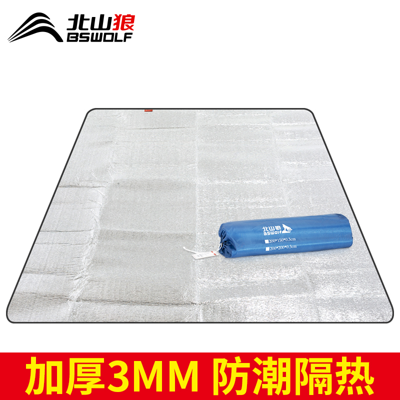 Picnic mat aluminum foil moisture-proof mat thickened outdoor picnic field outing pad waterproof portable camping tent mat
