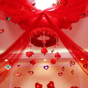 Гирлянды, банты упаковочные,  Новый творческий брак дом свадьба декоративный гирлянда установите выйти замуж ткань положить статьи романтический спальня шаман гирлянда творог, цена 550 руб