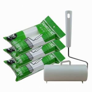 粘毛纸粘毛器衣服滚刷替换芯沾毛器粘尘纸可撕式大号16cm粘尘滚筒