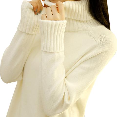 2017秋装新款宽松高领套头毛衣女秋冬韩版百搭学生打底针织衫加厚