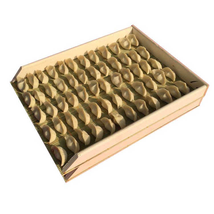 Форма для лепки пельменей 饺子盒天然青竹锅盖包饺子器冰箱保鲜收纳盒冻饺子不粘面饺子帘