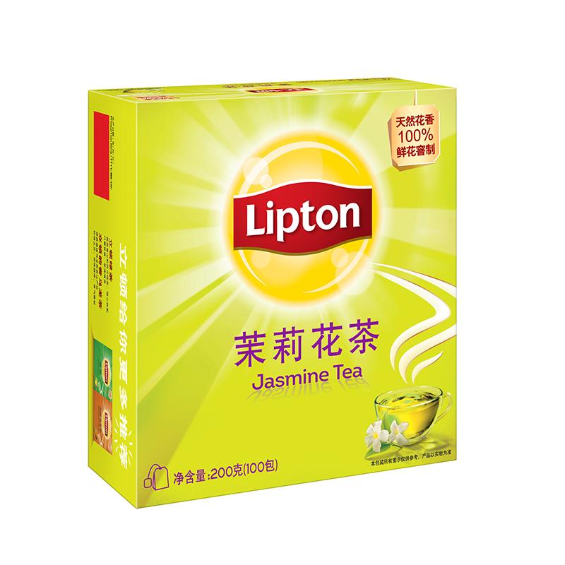 天然茉莉花香:Lipton立顿 茉莉花茶茶包100包