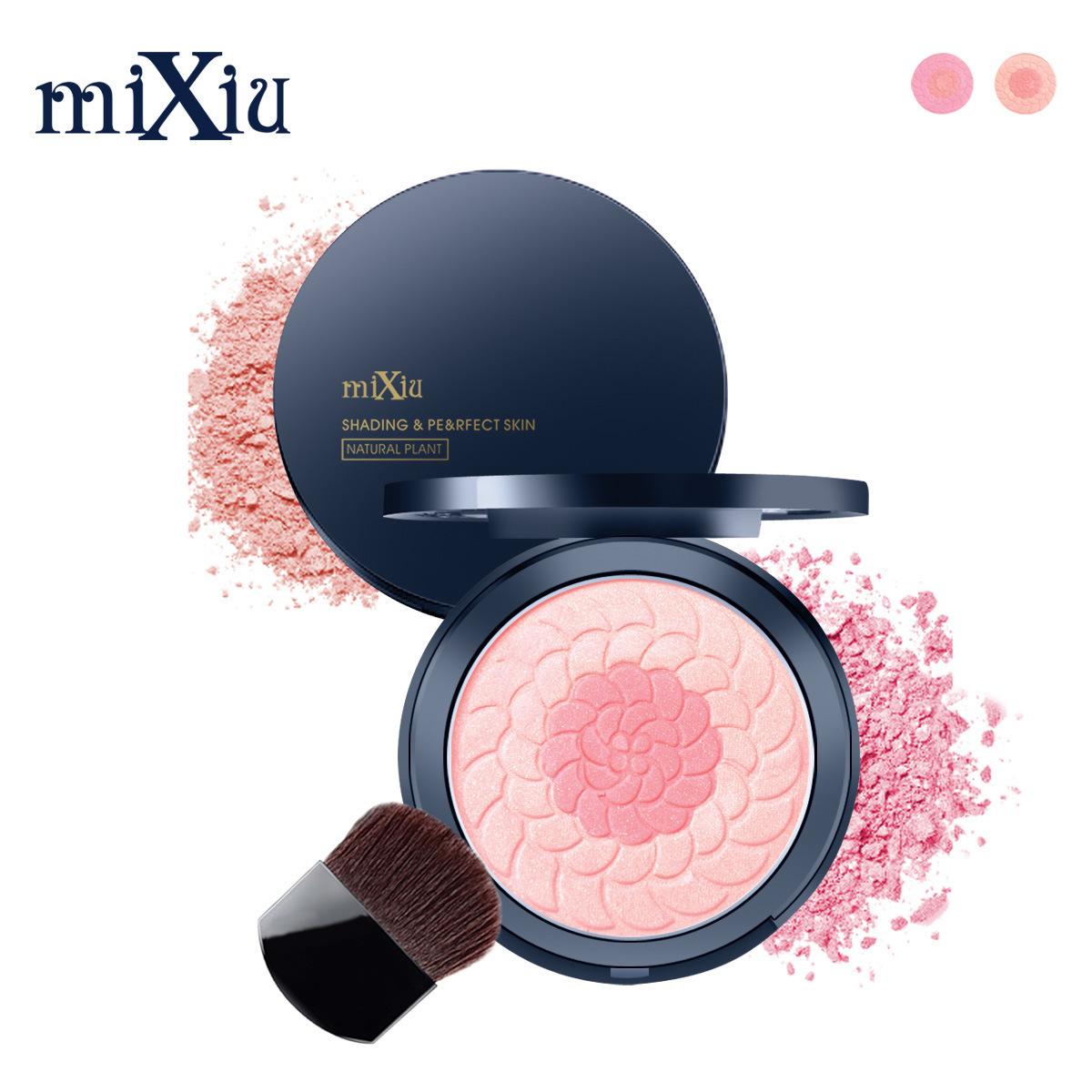 Phấn má màu nude chính hãng dưỡng ẩm làm sáng da tông màu nắng đỏ bột Hàn Quốc hai màu mixiu mới bắt đầu không thấm nước với cọ - Blush / Cochineal