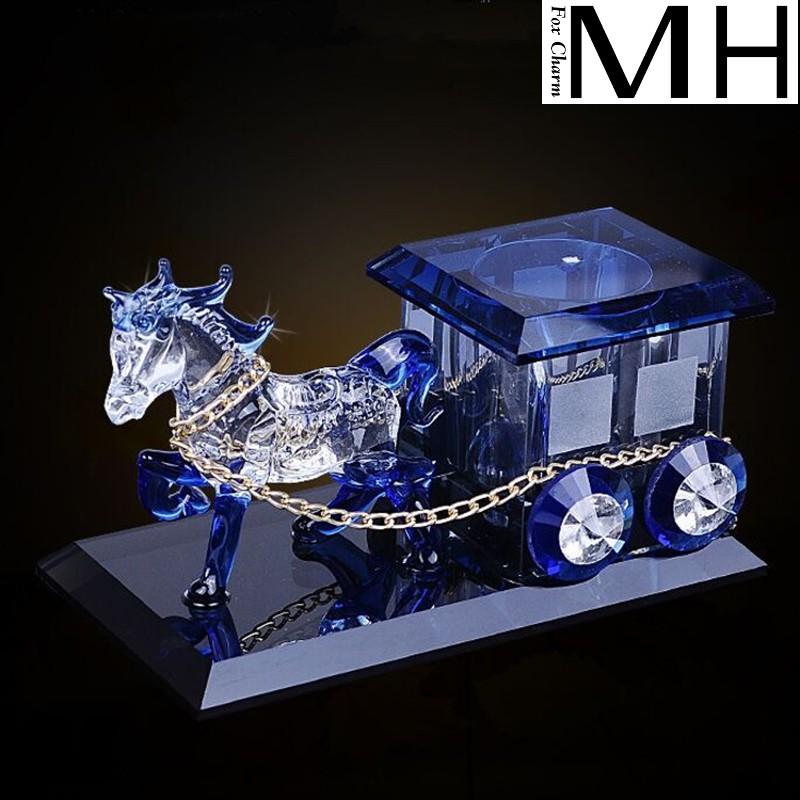创意家居日用品水晶马车客厅卧室摆件装饰马车模型香水座客厅摆件