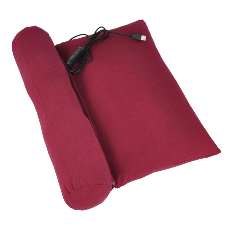 多功能艾草颈椎枕睡觉专用家用护颈椎肩颈部热敷发热加热艾灸枕头