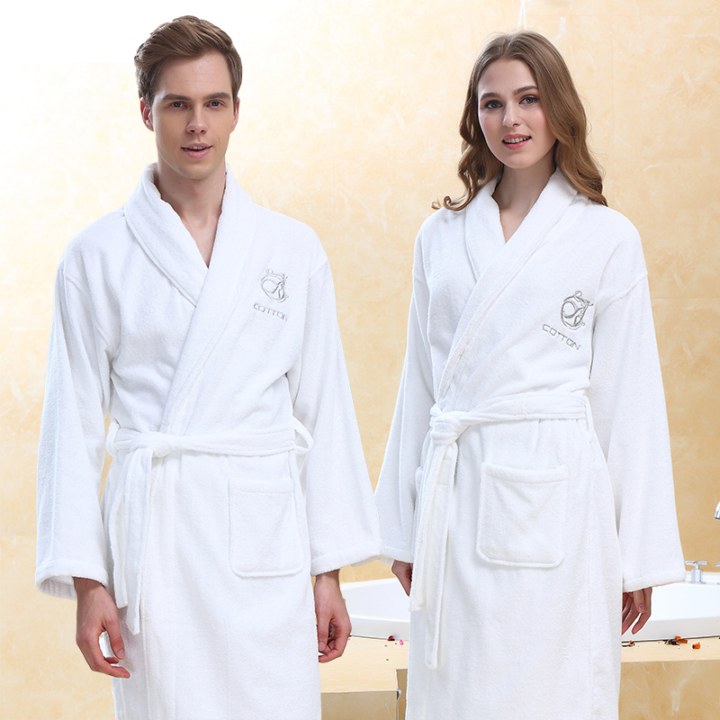 9294ab4631 Bathrobe towel material female cotton couple robe male with hat adult hotel bathrobe  cotton thickened autumn · Zoom · lightbox moreview · lightbox moreview ...