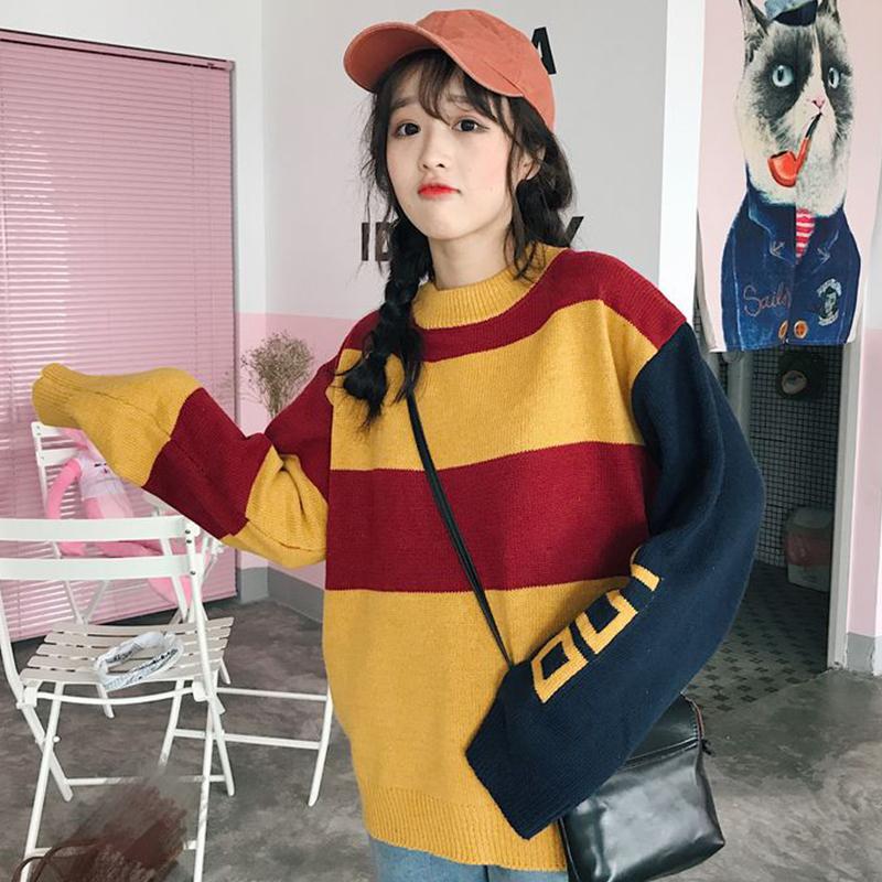 秋装针织套装女时尚毛衣两件套韩版潮学院风百搭秋季学生2017新款