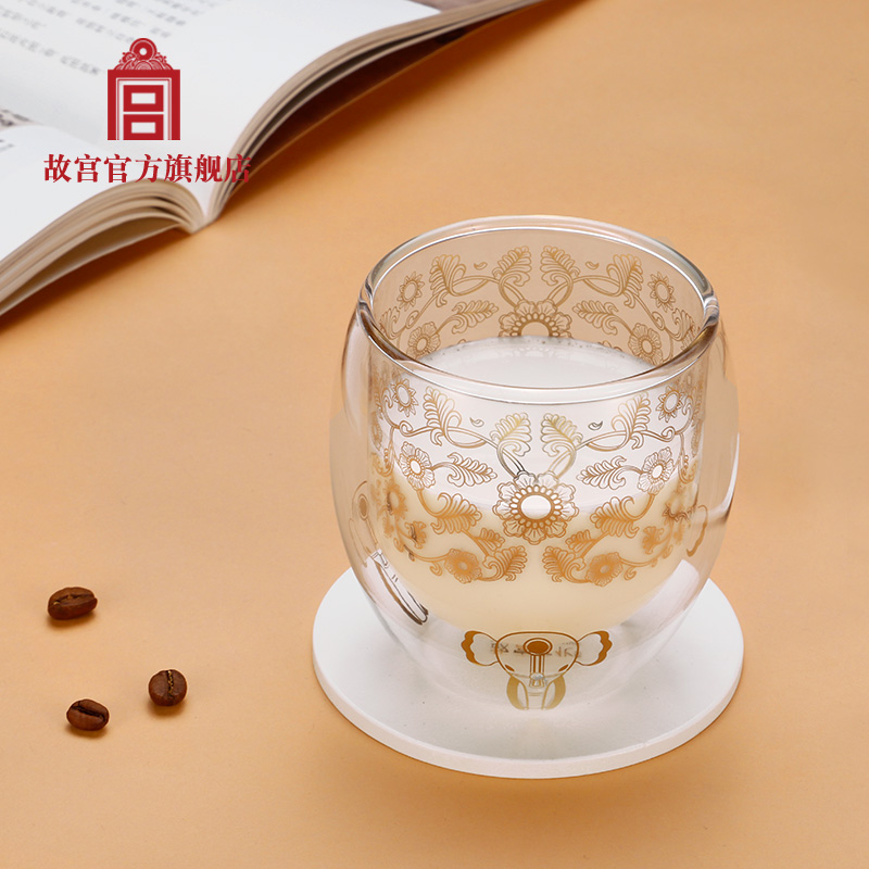 The Forbidden City Jinyu Yonggu double-glazed milk cup teacher's day gift Palace official birthday gift