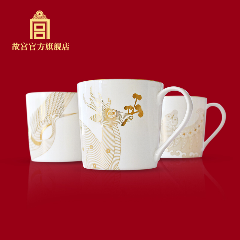 Palace Museum purple forbidden Fu Lu Shou cup mug mug gift official flagship store of the Palace Museum