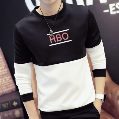 Men's long-sleeved t-shirt sweater manufacturers about ten yuan can not be faded color 9.9 yuan