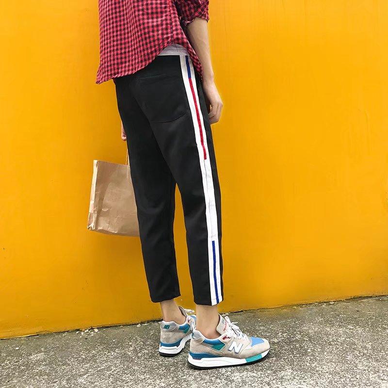 Cắt quần nam mùa hè xu hướng 8 tám quần Hàn Quốc phiên bản của quần hậu cung lỏng thường 7 quần của nam giới chân 9 chín quần