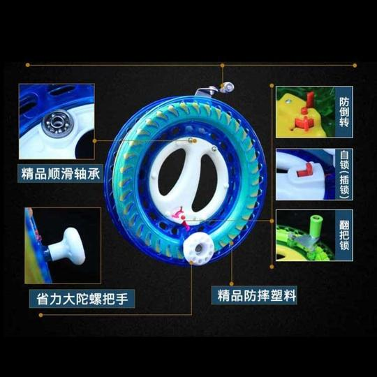Kite line tray hover hand rocking wheel, wheel, cutting disk, hand grip, anti-rotary wheel, pediatrist with roller