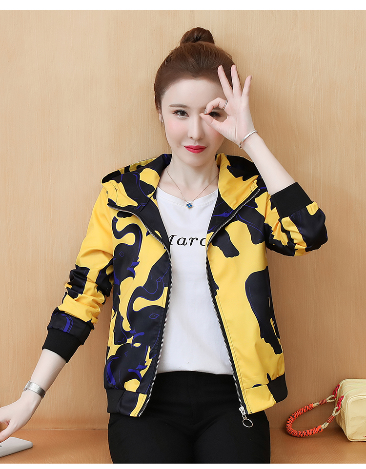 Coat women's ins tide spring and autumn 2020 new foreign women's Korean version of the jacket jacket autumn short coat 62 Online shopping Bangladesh
