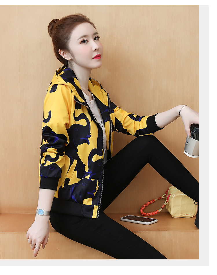 Coat women's ins tide spring and autumn 2020 new foreign women's Korean version of the jacket jacket autumn short coat 63 Online shopping Bangladesh