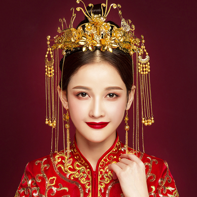 Chinese costume hair accessories headdress bride/antique hair ornament Chinese Phoenix crown luxury classical wedding dress accessories