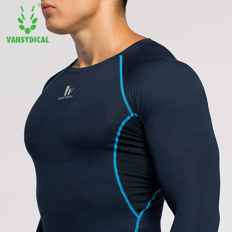 fd48d957b0 0.00] Sports tights men's long-sleeved compression stretch ...