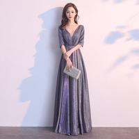Ужин платье-юбка женская весна 2019 новая коллекция высокая Дорогая атмосфера встречи приталенный платье серый длинный фасон гильза