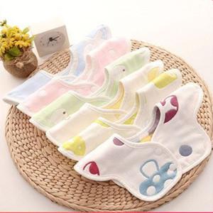 婴儿纯棉纱布围嘴口水巾新生宝宝防水吐奶围兜360度旋转四季可用
