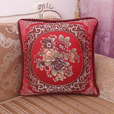 European luxury pillow cushion sofa bed top pillow office nap pillow car lumbar pillow package with core
