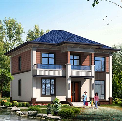 F2007漂亮的两层乡村小别墅设计图纸