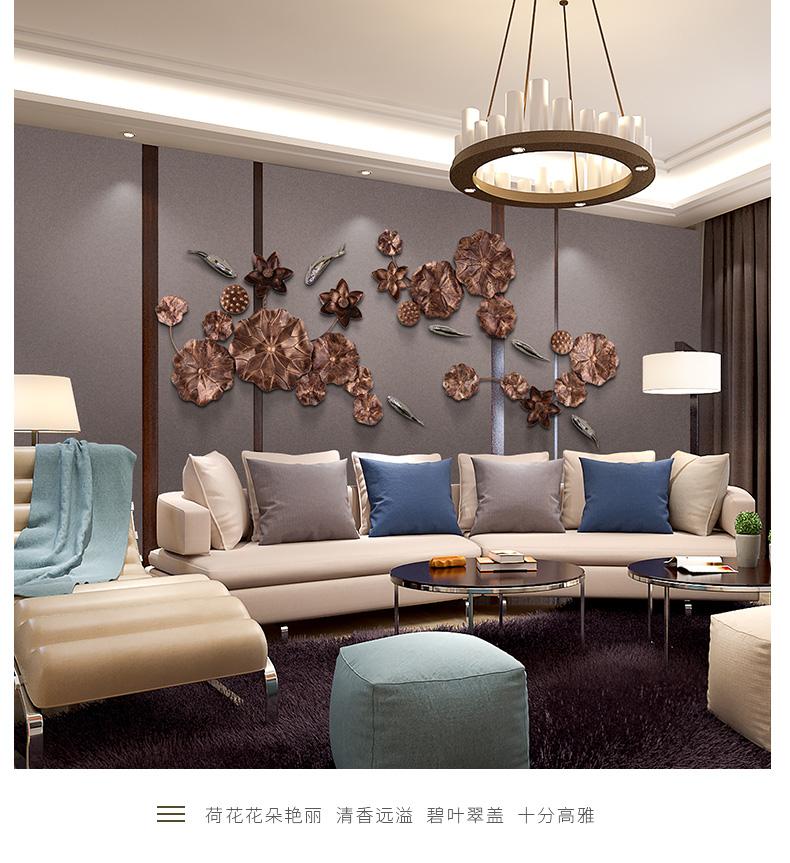 铁艺荷叶壁饰客厅背景墙上装饰金属挂件酒店大堂样板房墙面饰品商品详情图