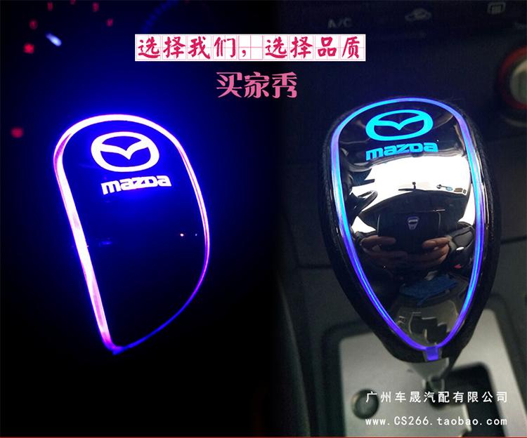 Độ cục nắm cần số có đèn led Mazda 3, 6, cx5 - ảnh 18
