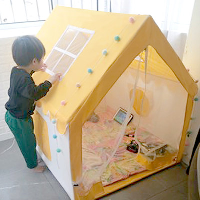 Children's tent indoor play house girl princess castle toy house boy baby small house bed separation artifact