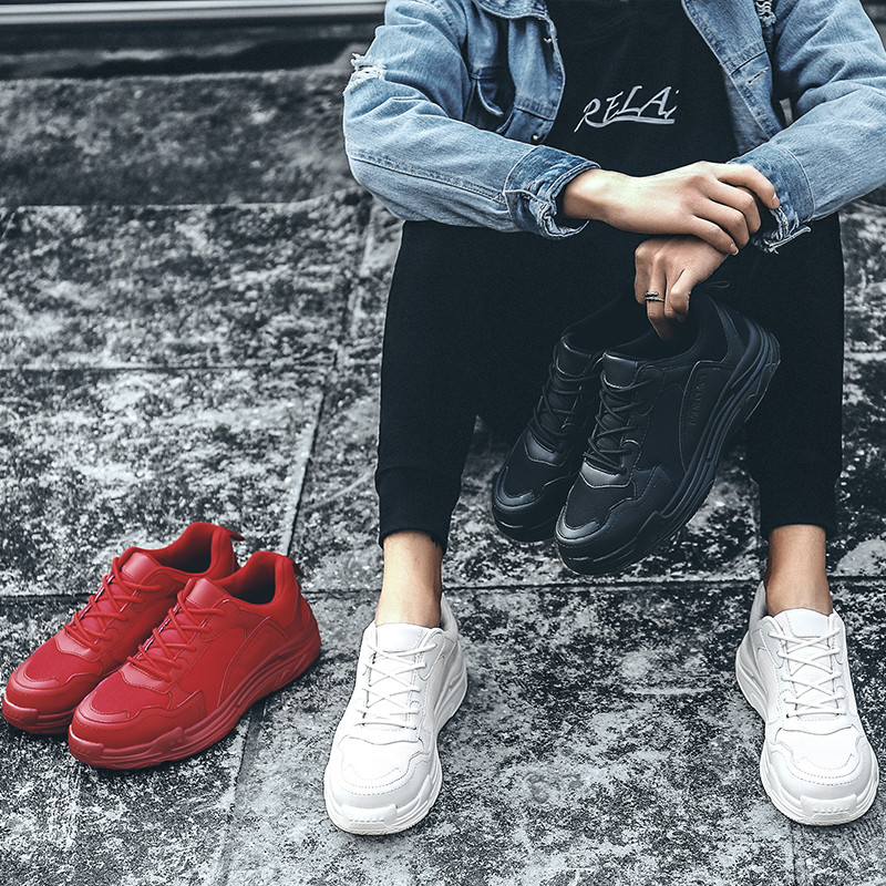 Ins super fire shoes men's old shoes small white tide shoes sports white street shoots wild summer net red with the same paragraph