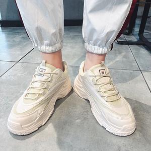 韩际2020春夏新款男士运动休闲鞋青少年中帮跑步透气潮牌时尚鞋C