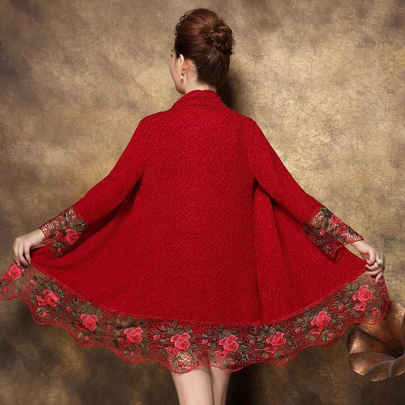 中老年女装春装连衣裙中长款时尚两件套中年大码长袖妈妈装打底衫