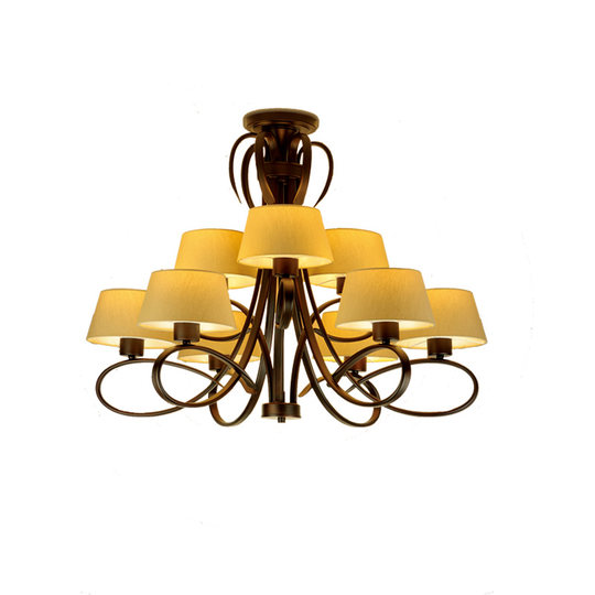 Panasonic living room lamp American country chandelier simple modern wrought iron restaurant bedroom lamp branch type HH-LM9002