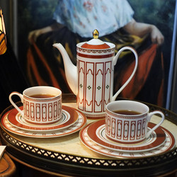 Afternoon tea tea set set bone china home European high-end teapot coffee cup gift