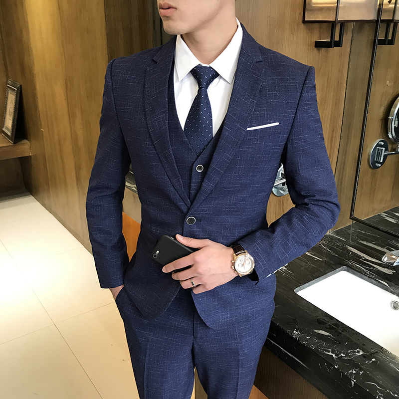 Suit Men\'s Suit Groom Wedding Marriage Suit Casual Korean Men\'s Slim ...