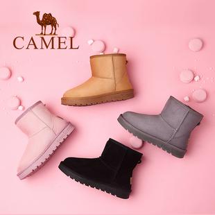 【骆驼】冬季新款雪地靴女加绒加厚