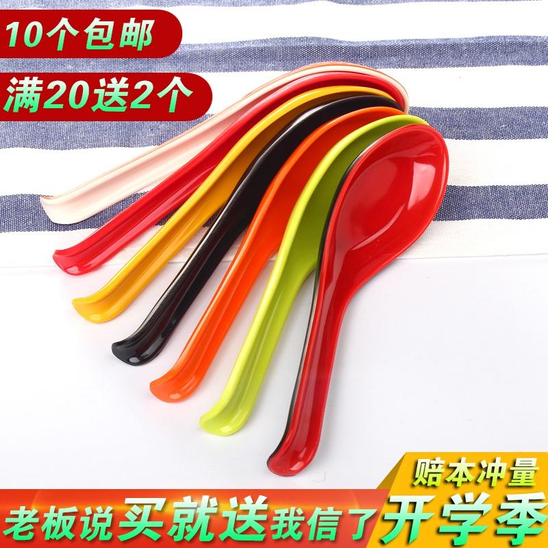 Miamine ложка длинная ручка ложка пластика окрашены с крючком ложкой имитация фарфора рамэн пряный горячая ложка ложка коммерческой столовой