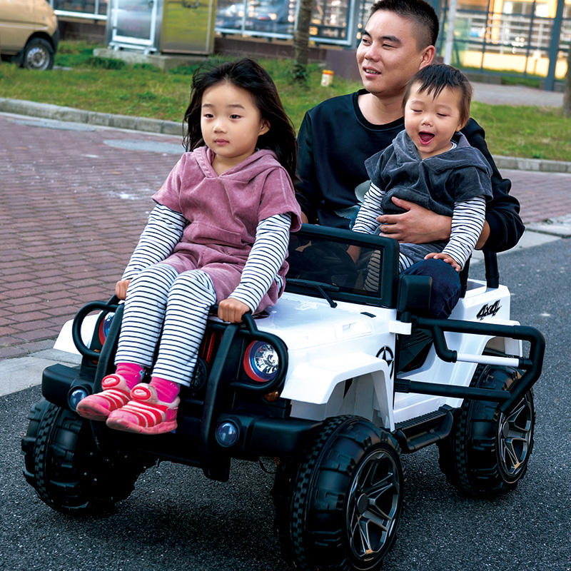 6b1de16fd67 Two-seat children s electric car four-wheel four-wheel drive off-road  stroller can sit people Toys 1-3 cars 4-5 years old remote control children