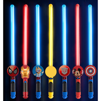 Copy Container Superhero Mickey Children's Weapon Toy Sword Furnace Glitter Star Baojian Teaching Sword Boy