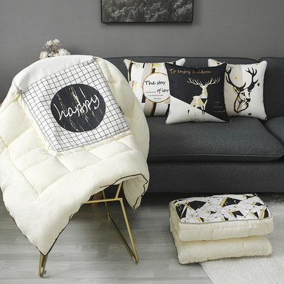 Nordic INS pillow quilt dual-purpose car multi-function back pillow office personality air conditioner being customized