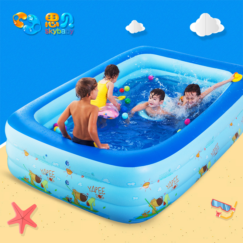 Sibei baby swimming pool inflatable plus family swimming pool infant child  baby bath ocean ball pool