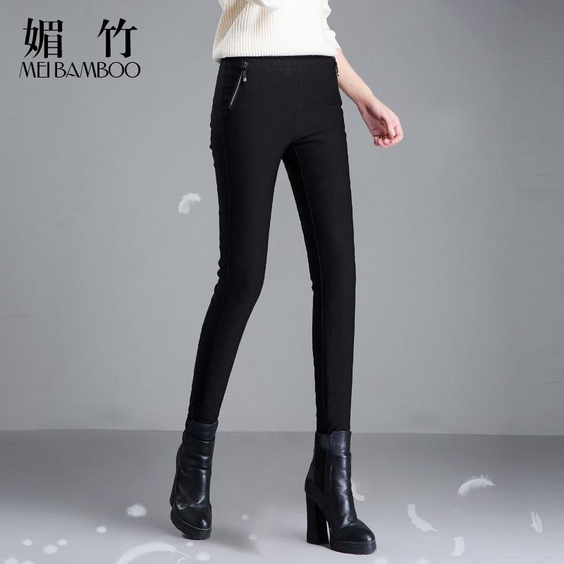 羽绒裤女外穿显瘦高腰弹力加厚白鸭绒保暖女士冬季棉裤铅笔裤子潮