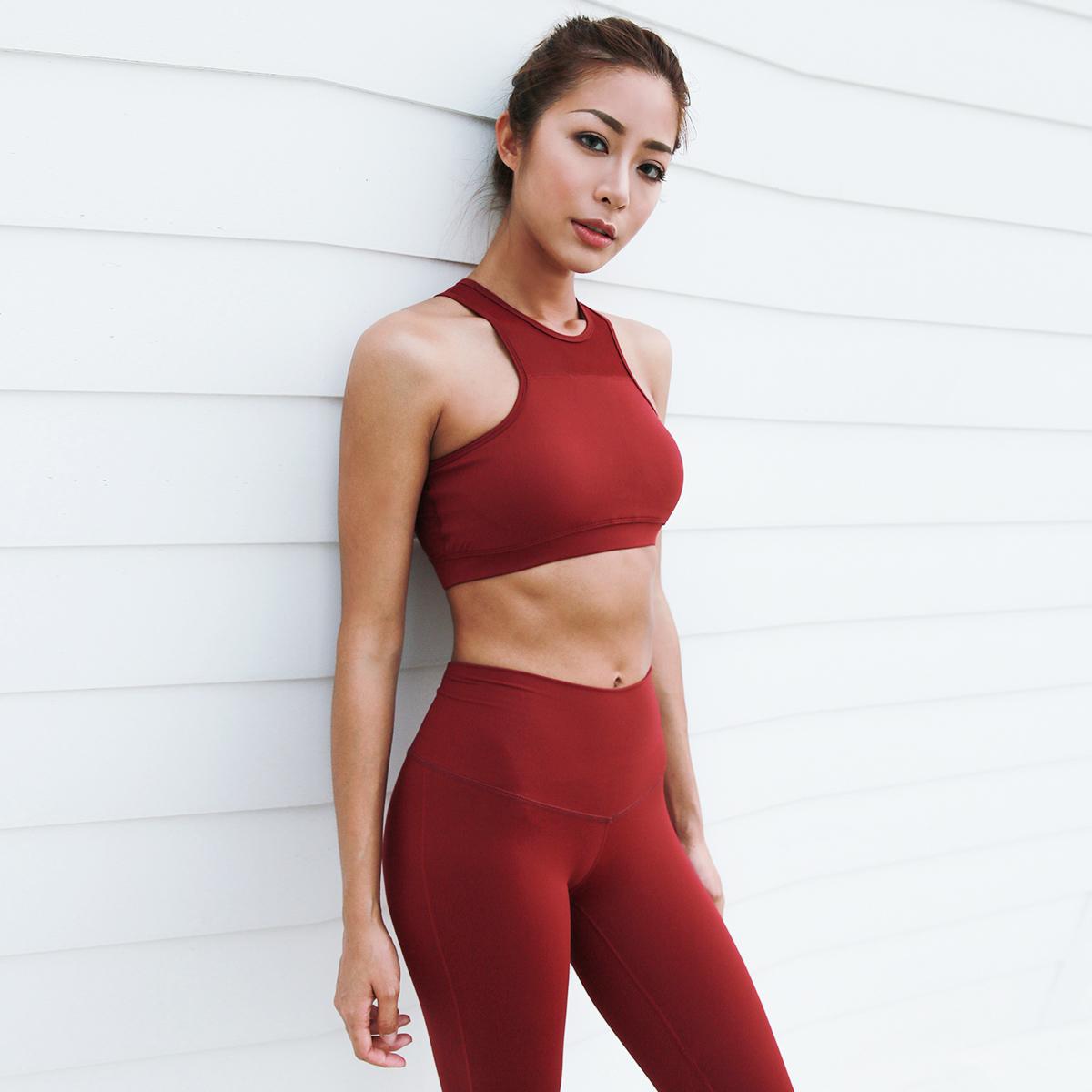La Nikar плотно спортивные брюки женщина фитнес бег быстросохнущие высокоэластичный воздухопроницаемый тонкий йога фитнес спортивный набор наряд