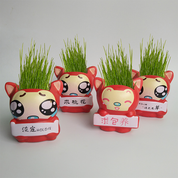 Toys & Hobbies New Creative Mini Qq Expression Potted Grass Doll Desktop Pot Life Decorations Kid Toys Birthday Gift Learning & Education