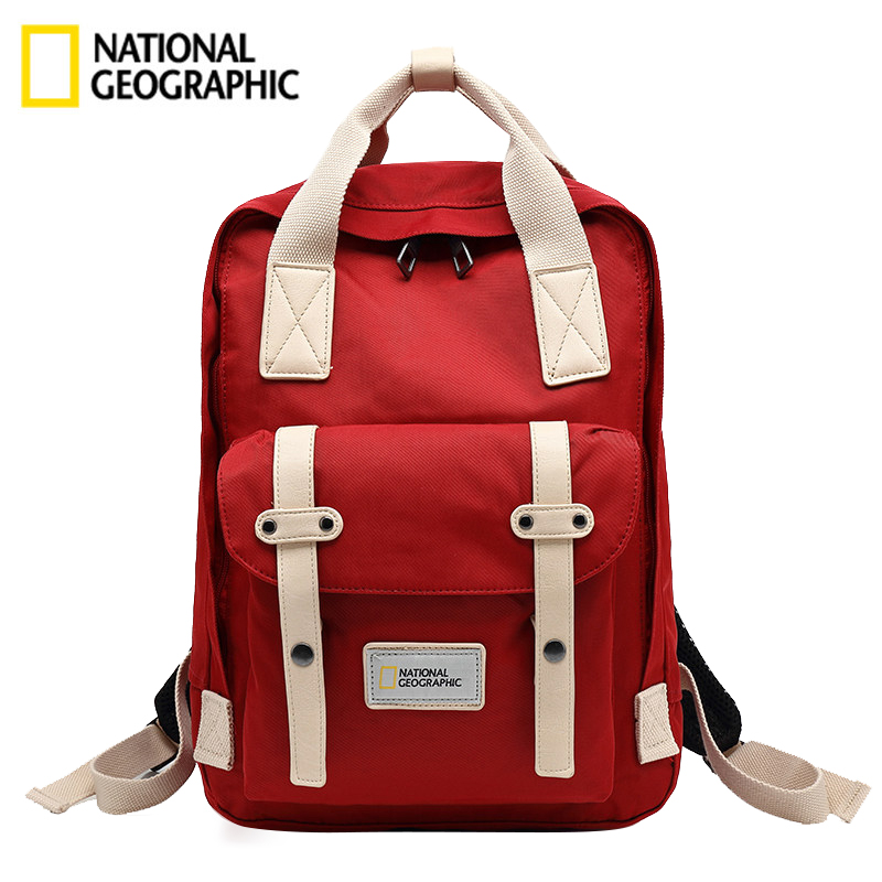 National Geographic backpack female sports outdoor fashion shoulder bag male oxford cloth travel waterproof student couple bag