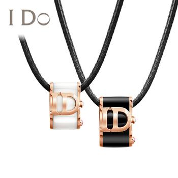Бриллианты,  I Do BOOM фарфор серия  18K золото с натуральными бриллиантами камень ключица ожерелье женский розовое золото подвески подарок подлинный ido, цена 28759 руб