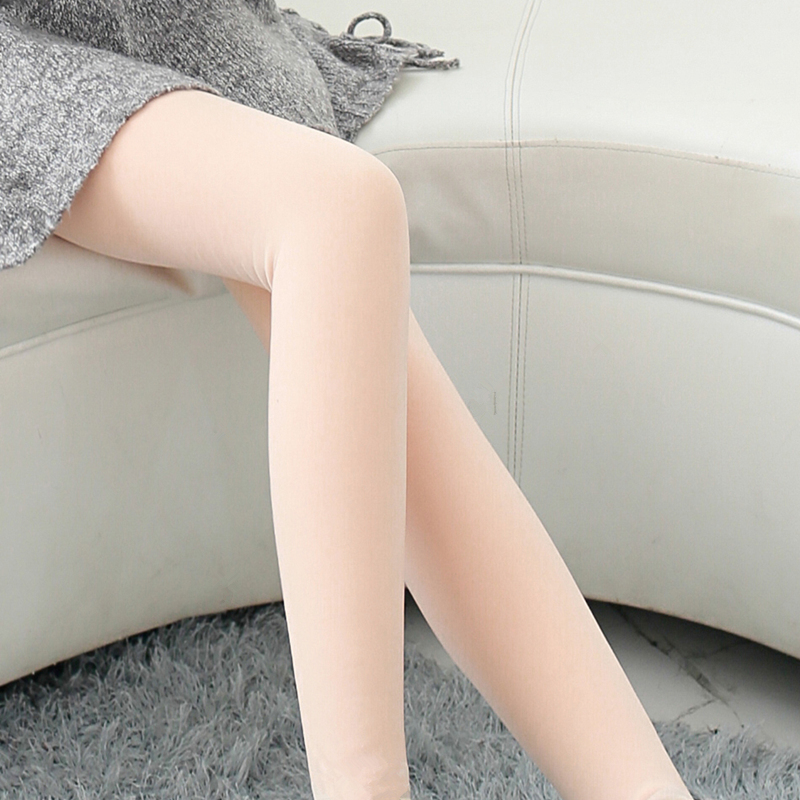 36cc0ab18 Light leg socks artifact plus velvet autumn and winter wear flesh-colored  leggings wearing super thick female color sky net red with the same  paragraph