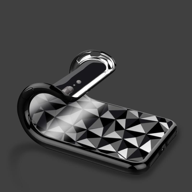 苹果X手机壳防摔超薄菱形几何透明优惠后15元包邮
