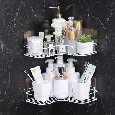 Bathroom tripod corner shelf free perforation wall hanging kitchen vanity toilet toilet storage rack