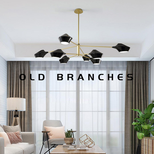 Old branches Postmodern Nordic minimalist branch-shaped creative special-shaped living room dining room bedroom study office chandelier